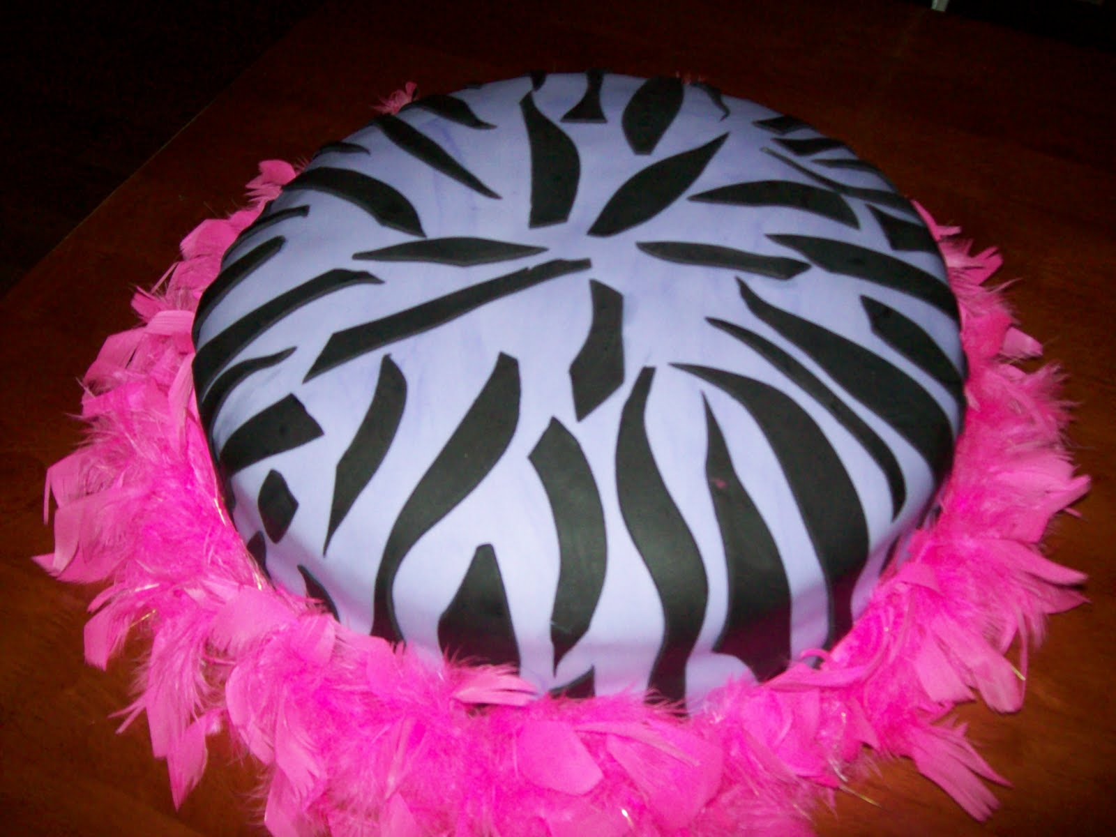 Purple Zebra Cake Design : Cakes By Design: Purple Zebra