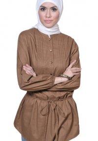 Manet Blus - 4327 Coklat (Toko Jilbab dan Busana Muslimah Terbaru)