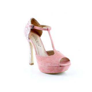 Zapato beguer plata y rosa