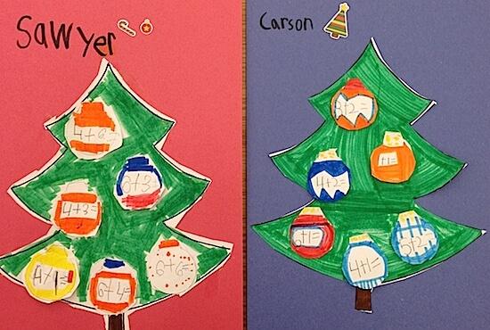 Christmas tree addition in Grade 1 FREEBIE