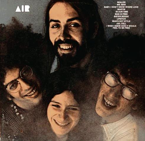 """""""Air"""" (não confundir com o trio americano de free jazz de mesmo nome) foi uma impressionante banda americana de jazz rock formada no início da década de setenta na cidade de Nova York. Seu único álbum foi gravado nos estúdios Mediasound e Electric Lady, em Nova York (exceto a faixa 11, gravada na casa de """"Googie"""" no Bronx) e lançado em 1971 pela Embryo Records. Os quatro membros eram """"Tom Coppola"""" (órgão), """"John Siegler"""" (baixo), """"Mark Rosengarden"""" (bateria), e """"Googie Coppola"""" (piano e vocal). O álbum também contou com """"Randy Brecker"""" no trompete, """"Michael Brecker"""" no saxofone, """"Barry Rogers"""" no trombone, """"David Earle Johnson"""" nas congas e timbales, """"Robert Kogel"""" na guitarra, """"Bob Rosengarden"""" no vibrafone, além de """"Jan Hammer"""" e """"Herbie Mann"""" na percussão. """"Herbie Mann"""" também foi o produtor.  Seu som era um jazz com uma leve influência pop e o principal ponto comercial era o vocal de """"Googie Coppolla"""" que era forte e encantador ao mesmo tempo. Infelizmente, nem todas as músicas mantiveram o mesmo nível e o álbum começou a desmoronar no final. Ainda assim, se um dia você encontrar o LP, agarre-o com unhas e dentes porque ele definitivamente vale a pena, por ser uma das jóias perdidas da década de setenta e provavelmente o melhor lançamento da Embryo Records. Aficionados em jazz querem muito esse LP porque ele é produzido por """"Herbie Mann"""". O álbum foi relançado em CD em 2008 pela DBK Works."""