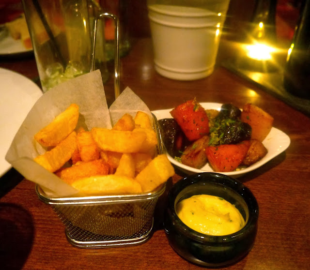 Cardiff Marriott Chips and Aioli and Honey Glazed Rainbow Carrots