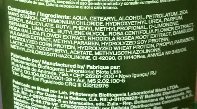 ingredientes mascarilla novex bambu ph acido crecimiento capilar