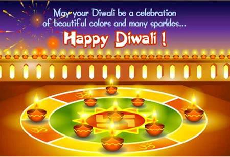 Diwali Greeting with Pramidalu