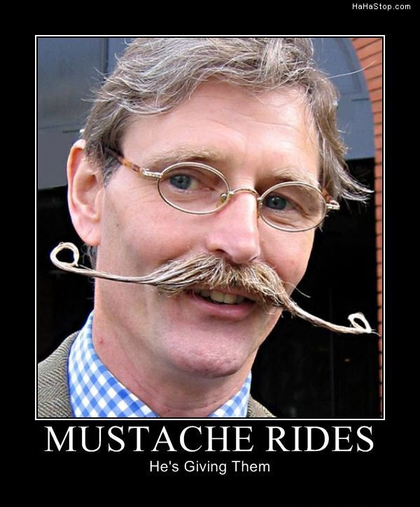 super funny hilarious pictures Mustache Rides