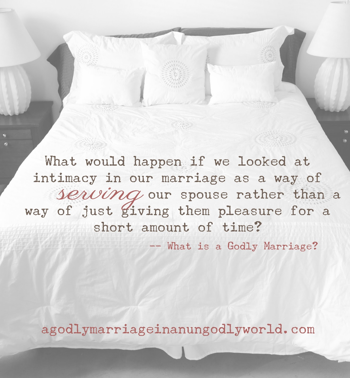 intimacy in marriage Sexual intimacy in christian marriages the good girl's guide to great sex (and you thought bad girls have all the fun.