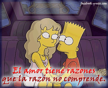 Tarjeta de amor de Los Simpsons