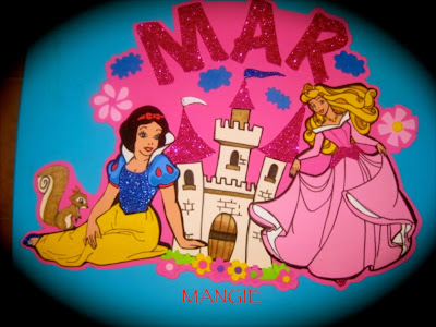 Letrero princesas