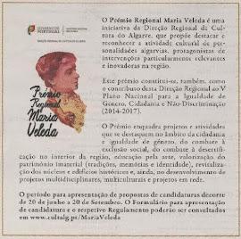 EM DESTAQUE | Prémio Regional Maria Veleda | Candidaturas até 20 Setembro 2014