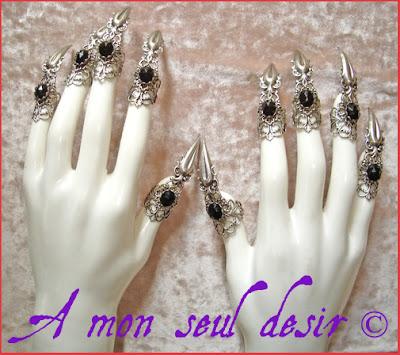 Bagues Griffes Claw Rings Bijou Gothique Gothic Gothik Gothic Jewel  www.amonseuldesir.net A Mon Seul Désir