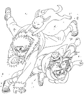 Yellow Coloring Pages naruto coloring pages