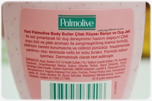 palmolive çilekli body butter