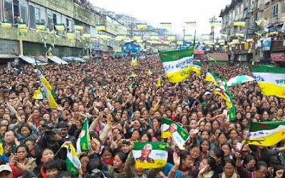 GJMM massive public meeting in Darjeeling motor stand