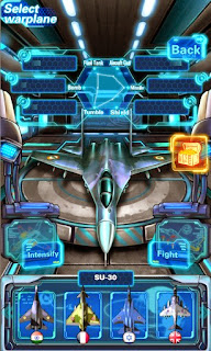 Screenshots of the Sky Fighter War Machine for Android tablet, phone.