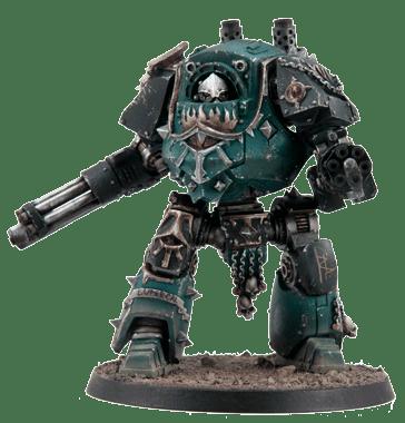 Wargames: Escuadra de Mando y Contemptor de los Hijos de Horus [Warhammer 40K].