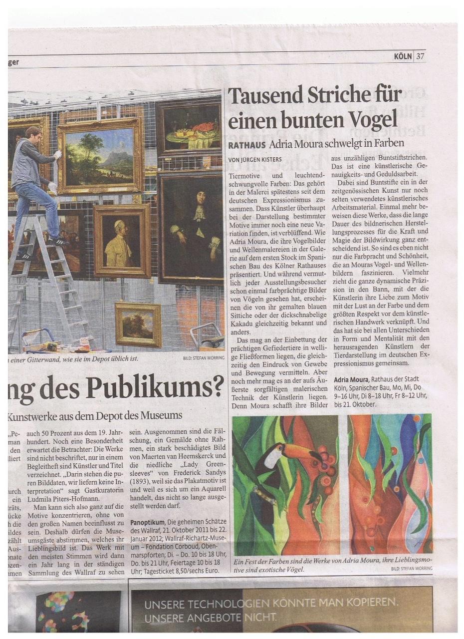 Kölner Stadt Anzeiger 15./16.-10-2011