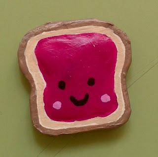 Crgc DIY imán tostada kawaii