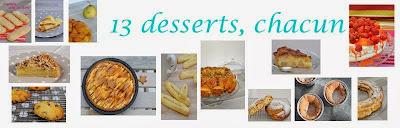 13 desserts, chacun