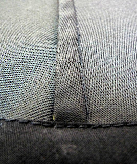 pieces are joined with french seams