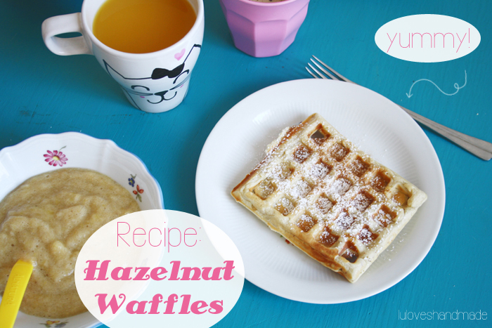 ... waffle recipe into making hazelnut waffles and they were simply too