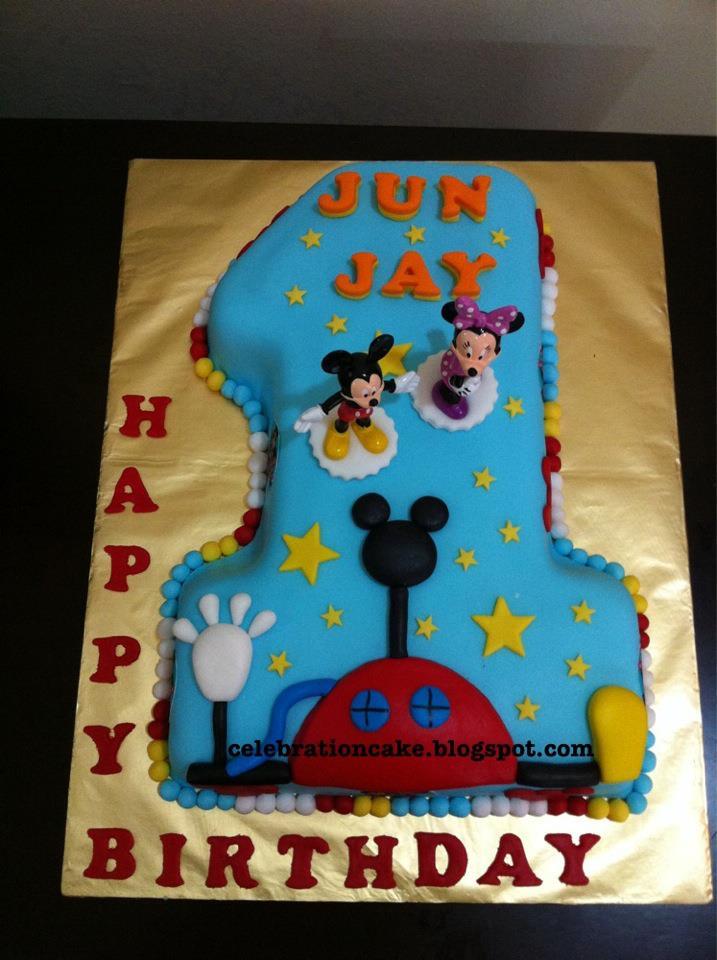 Celebration Cake Mickey Theme No 1 Cake