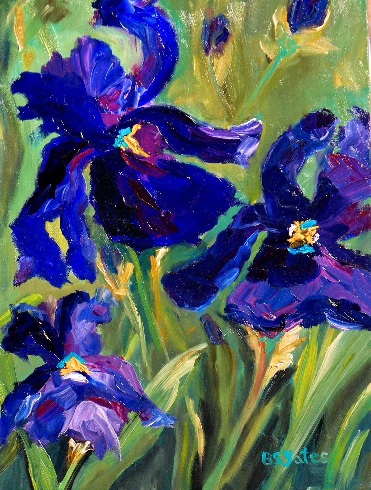 Blue Iris Painting Free Download bull Playapk co
