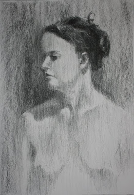 Stephen Scott - Charcoal on paper - nude portriate