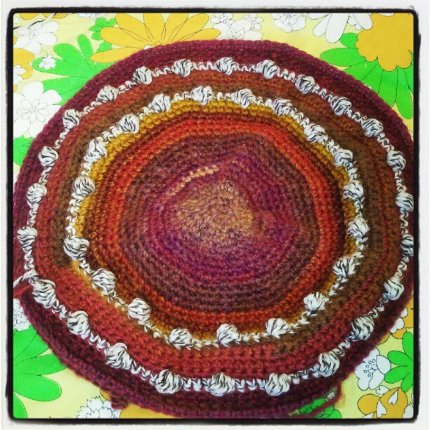 Crocheting Rows In A Circle : made up using single crochet stitches and some alternating bobble rows ...