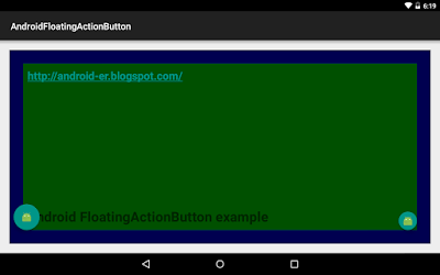 Android Floatingactionbutton Example