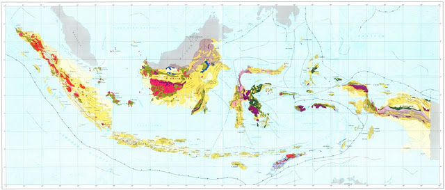 Link download Peta Geologi Indonesia.