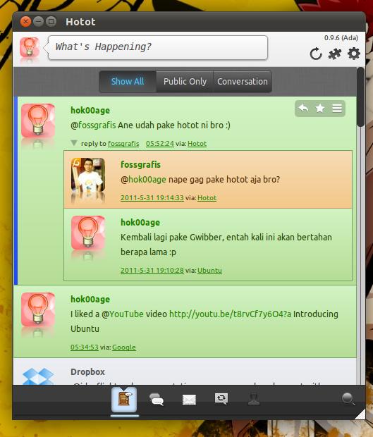 Hotot Twitter Client di Ubuntu Natty
