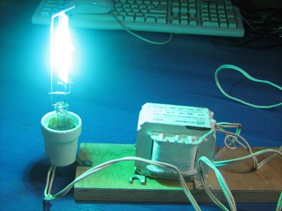 Hacking a Hg Lamp to a Powerful UV Light Source
