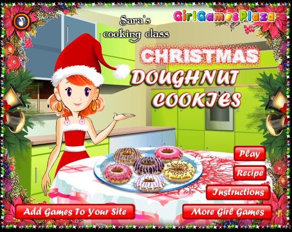 Game nấu ăn Christmas Doughnut Coojes trong ngày giáng sinh