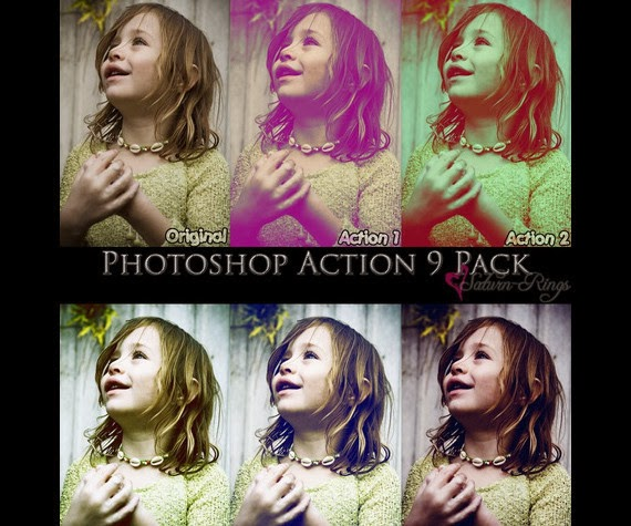 Action 9 Pack in Photoshop