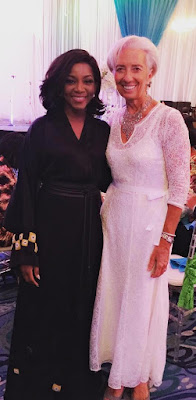 Genevive Nnaji Poses With IMF Boss Christine Lagarde (Photo)