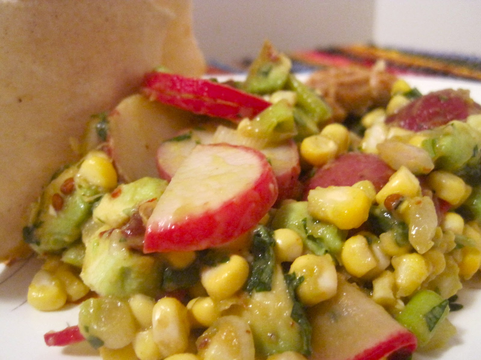 Kvell In The Kitchen Corn Avocado And Red Potato Salad