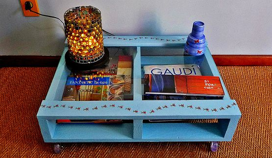 mesa de centro rústica, mesa de centro com pallets
