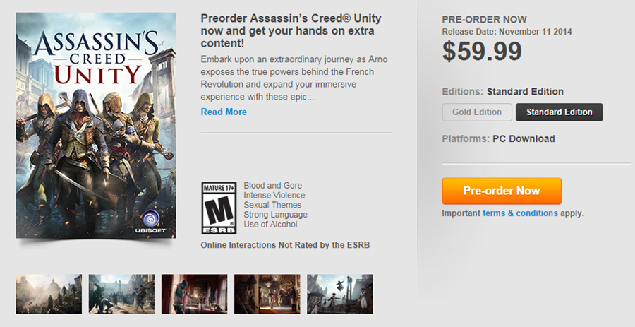 Assassin's Creed- Unity(America)