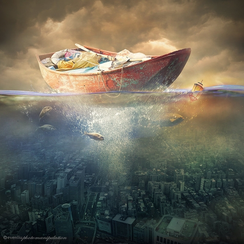 05-Drifting-Even-Liu-Surreal-Photo-Manipulations-and-the-Lantern-www-designstack-co