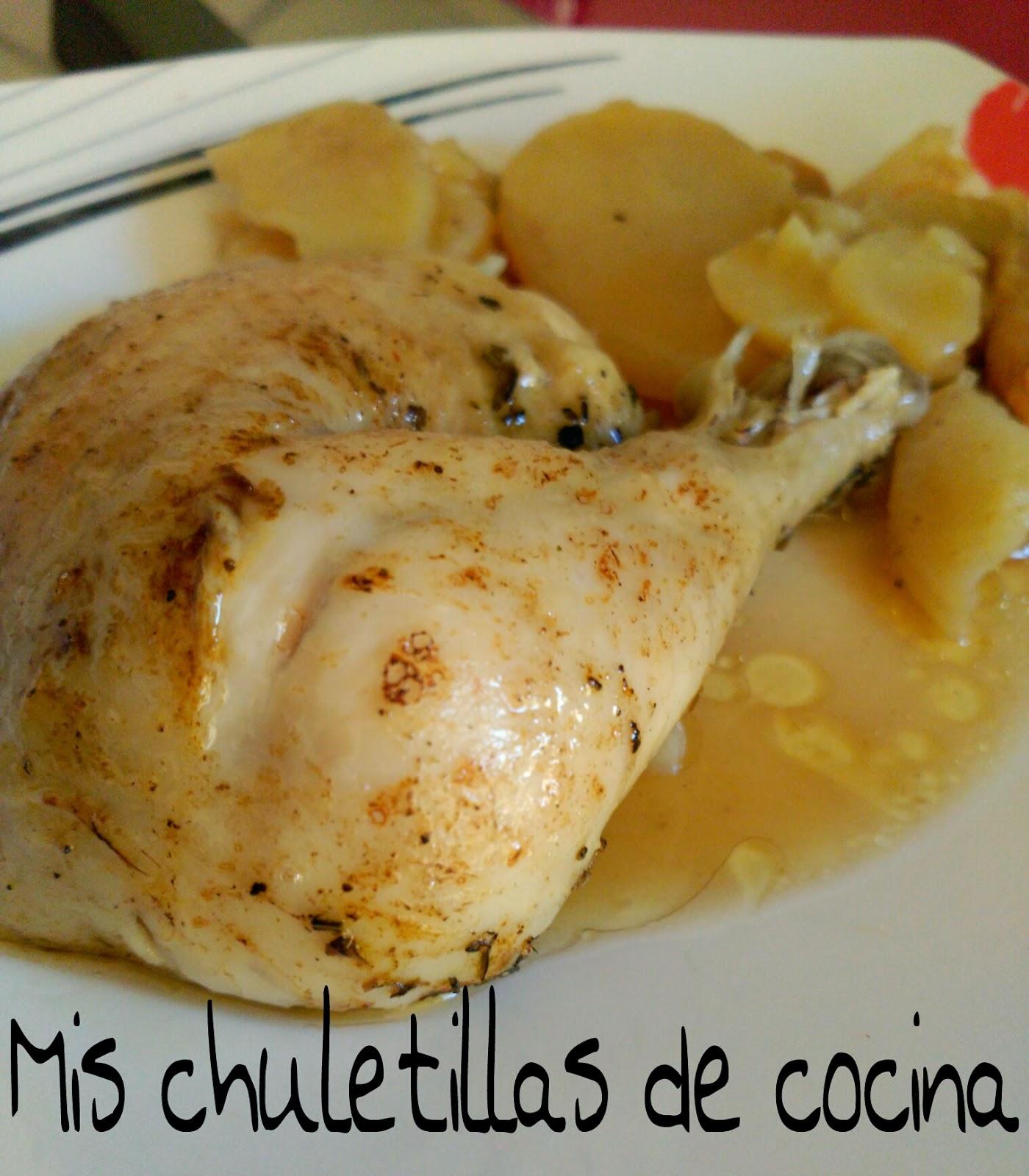 Mis chuletillas de cocina pollo asado al lim n for Cocinar un pollo entero