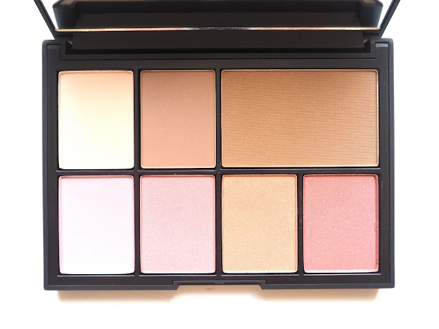 NARS X Steven Klein One Shocking Moment Cheek Palette, nars holiday collection, nars blush palette 2015, nars holiday collection 2015, nars one shocking moment swatches, nars, steven klein, paloma, laguna, robotic, blasphemy, luster, dolce vita, blush, contour, bronzer