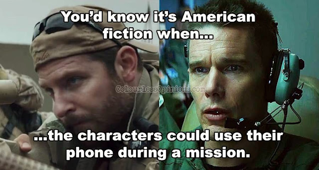 American Sniper Good Kill phone during war duty meme