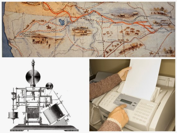 The fax machine was invented the same year as the Oregon trail migration