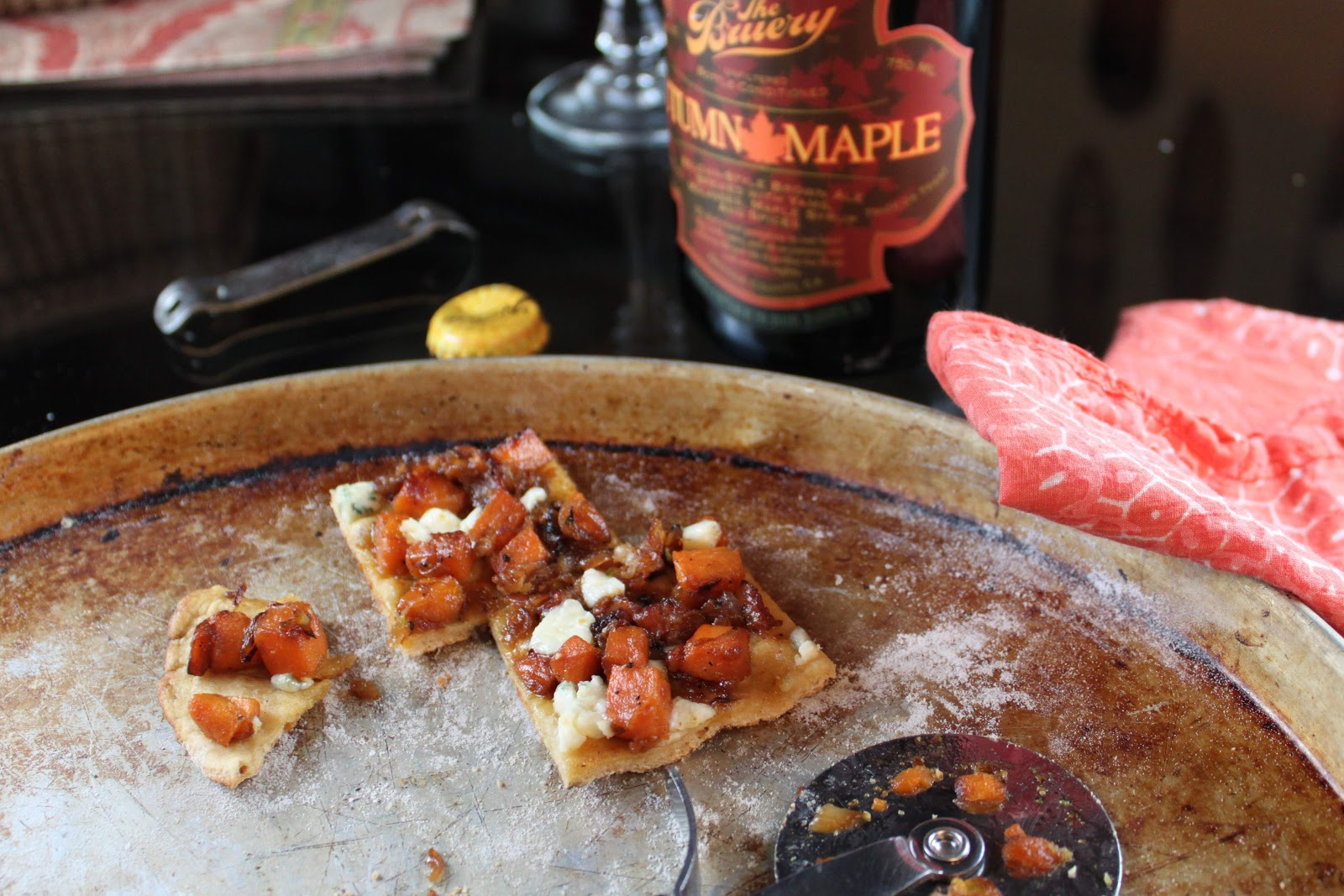 ... Happy Blog: Sweet Potato, Pancetta and Blue Cheese Grilled Beer Pizza