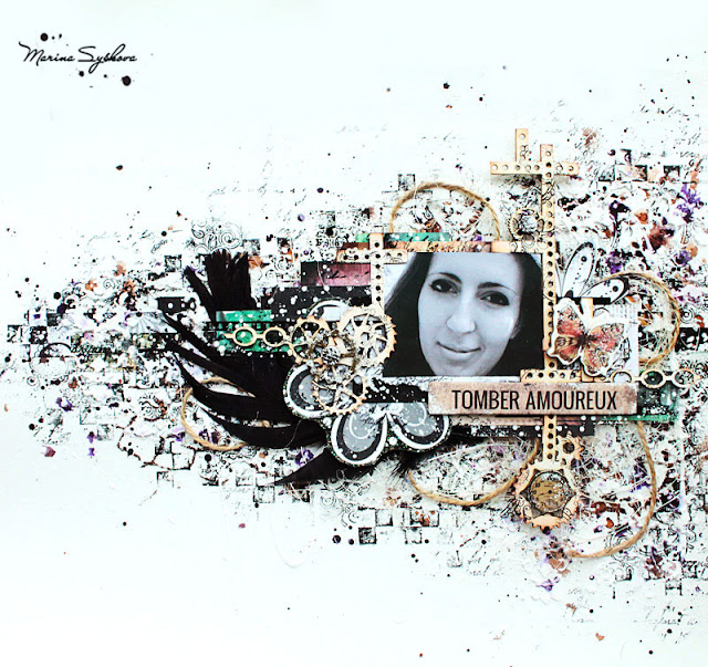 Скрапбукергода 2015. Полуфинал. @MarinaSyskova #scrapbooking #mixedmedia #layout