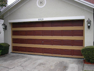 Paint A Metal Garage Door To Look Like Wood Everything I
