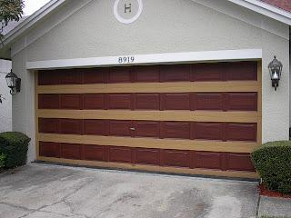 Paint a metal garage door to look like wood everything i for Steel garage doors that look like wood