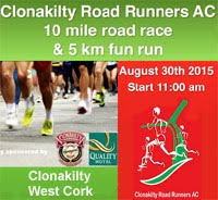 10 mile race in West Cork...Sun 30th Aug