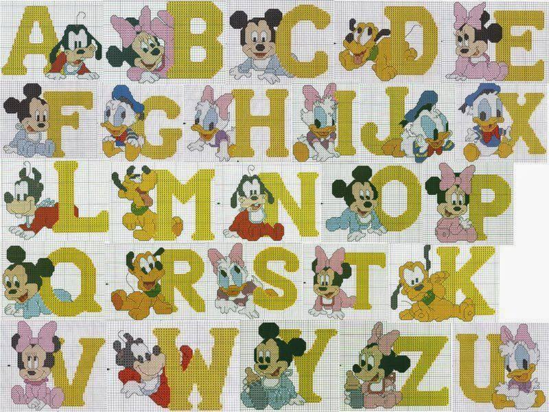 Punto croce per i bambini la mia passione alfabeti a for Schemi punto croce alfabeto bambini