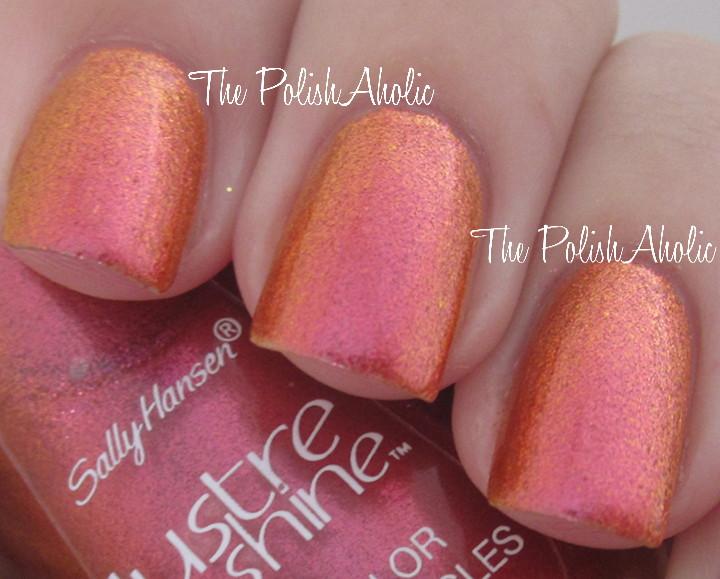 The PolishAholic: Sally Hansen Lustre Shine Lava +a comparison!